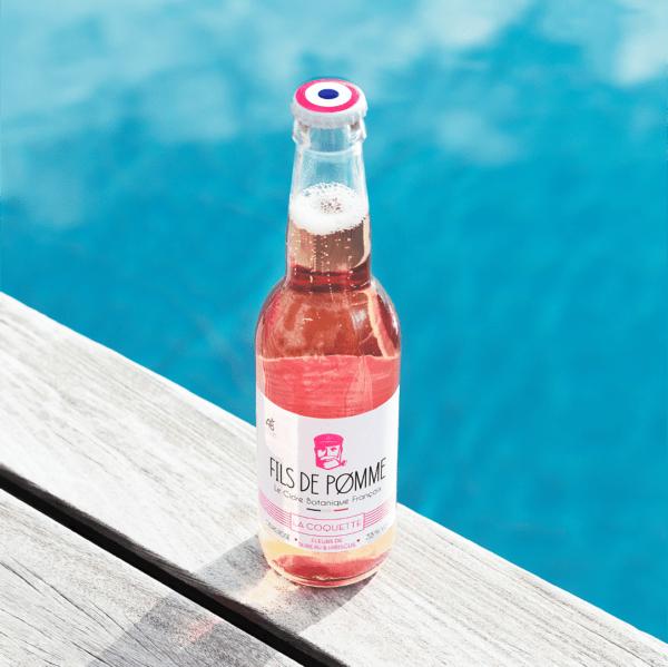 Fils de Pomme Cidre bio Rosé infusé fleur de Sureau et hibiscus